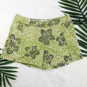 Columbia | Tropical leaves nylon board shorts
